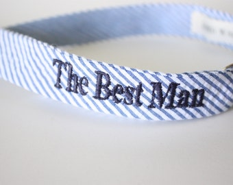Custom Wedding Bow Ties/ custom embroidery / bowties / groomsmen gifts / custom ties
