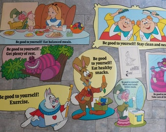 Vintage 1978 Disney~Healthy Way in Wonderland Bulletin Board Kit~Teacher~School