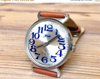 "Soviet watch ""Pobeda"", Mens watch ,Vintage Watch ,Russian watch, Mechanical watch , men's watch ,blue watch"
