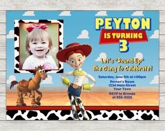Jessie Toy Story Birthday Invitation, Toy Story Invitation Invite - Printable File (Digital)
