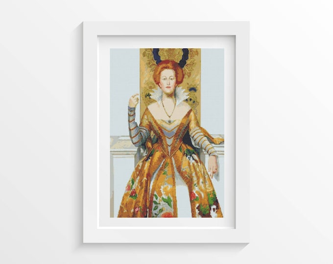 Cross Stitch Kit, Embroidery Kit, Art Cross Stitch, Woman Cross Stitch, The White Devil by John Collier (COLLI03)