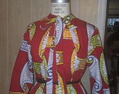 African Clothing: C h i o m a African Print Top made from African Dutch Wax