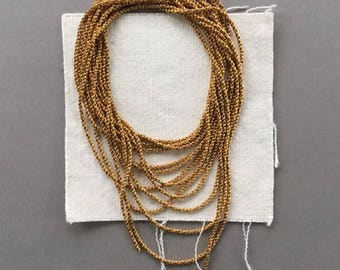 Vintage Rope Chain, Braided Chain, Fancy Brass Chain, 1.9mm, 8Ft, Caps