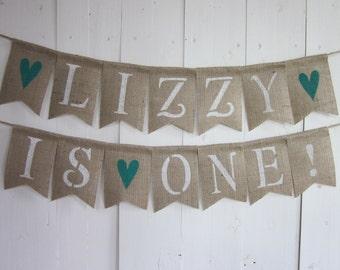 First Birthday Banner - Custom Name Birthday Banner - 1st Birthday bunting - First Birthday Garland - Custom Name Personalized Birthday