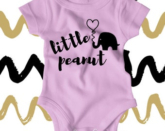 Little Peanut Onesie - Going Home Outfit - Coming Home Outfit - Personalized Onesie - Elephant Onesie - Personalized Onesies