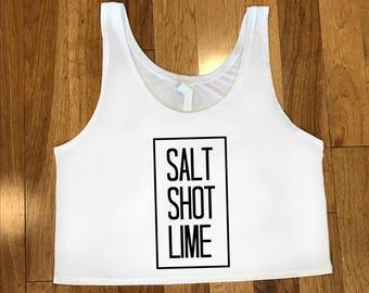 Salt Shot Lime Cropped Tank