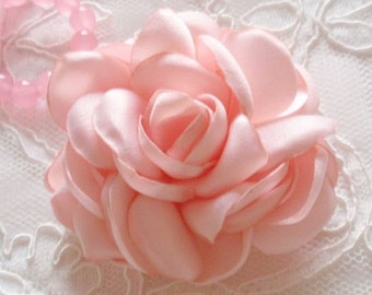 Larger Singed Flower Singed Rose Satin Flower Satin Roses (3inch) MY-643-12 Ready To Ship