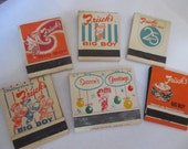 lot of 6 Vintage Frisch's Big Boy matchbooks 25th anniversary Season's Greetings