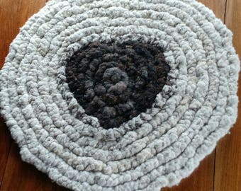 Shepherd's Rug; all natural, raw sheep's wool; hand crafted