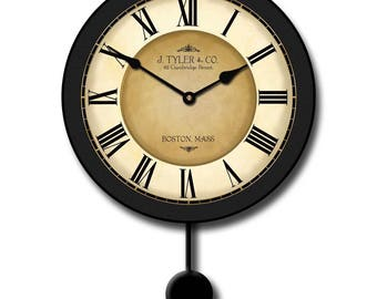 Galway Black Pendulum Wall Clock