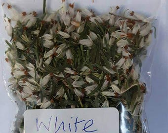 WHITE HEATHER - Home Grown - Loose Magical & Healing Herb - Luck - Protection - Spells and Incense – Magic - Wicca – Pagan