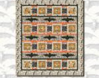All Hallows Eve Quilt Kit. Featuring Blank Quilting. Designed by M Studio.