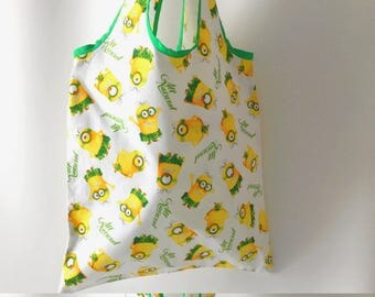 Minions (TM) Bag, Minions  (TM) Tote, Despicable Me Bag, Market Bag, Cotton Tote Bag, Yellow Tote Bag, Book Bag, Grocery Bag