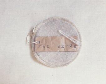 Wool-Backed Nursing Pads // 'Sand' Merino Wool, Hemp & Cotton Re-Usable Nursing Pads