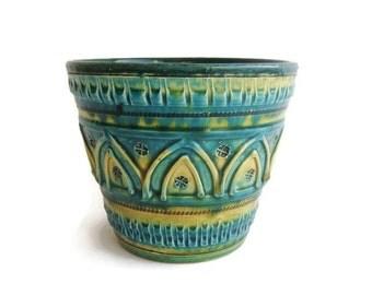 Mid Century Modern ceramic planter, Italian Pottery