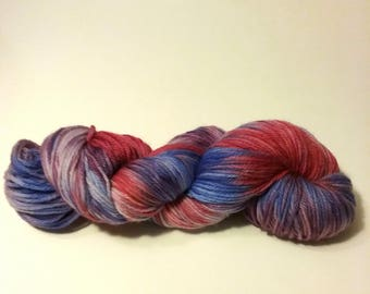 Hand Dyed 75/25% SW Merino Wool/Nylon DK/Light Worsted Weight Yarn - 'Mixed Berries'