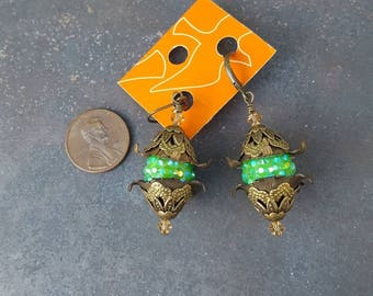 Unique Oriental Style Vintage Earrings