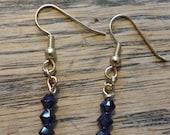 Purple Beaded Earrings 94