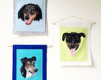 Custom pet portrait, personalize portrait, custom portrait cat dog, needle felted wall art wall hanging home decor, pet lover, pet memorial