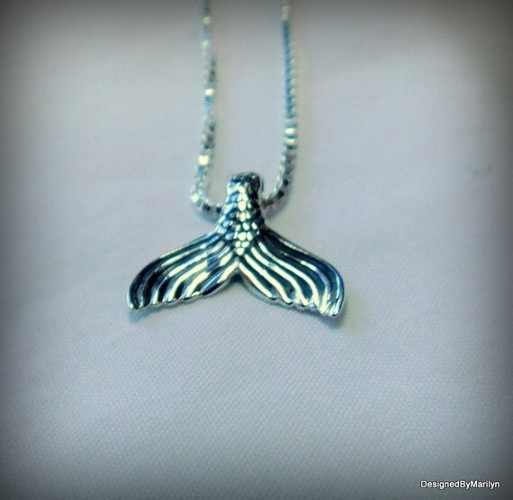 Sterling silver mermaid tail necklace, ocean jewelry, sea life jewelry, sirens song, siren jewelry