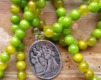 Priestesses of Avalon, priestess prayer beads, priestess mala, avalon prayerbeads, avalon mala, glastonbury mala, glastonbury prayers,