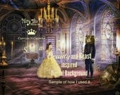 PRINCESS and FAIRYTALE BALLROOM Digital Backgrounds Storybook or Belle-inspired Background Includes 2 Jpegs