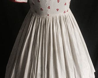Vintage 1950's Sa'Bett Pinstriped Dress