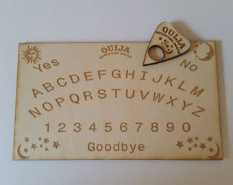Mini travel ouija board with oracle and travel bag