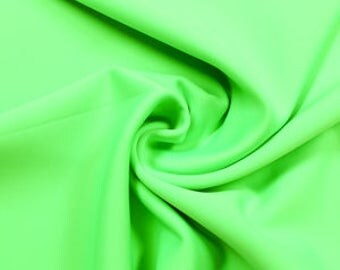 Neon Green Spand-Tek Compression Wicking Neoprene Fabric by the Yard - Style 3058
