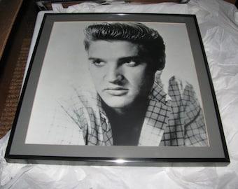 VINTAGE ELVIS b/w framed portraits