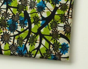 AFRICAN WAX PRINT Fabric / Kitenge Ankara Fabric /  African Apparel Fabric /  Sold By The Half Yard / 100% cotton