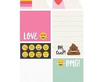 Simple Stories - Carpe Diem - Emoji Love Collection - Sticky Notes - 40 pieces - 8030