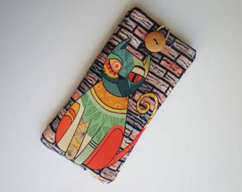 iPhone case, iPhone 7 sleeve, Samsung Galaxy S8 case, cell phone case, Huawei P 10,  Huawei case, xperia sleeve, Cat, Cat pouch