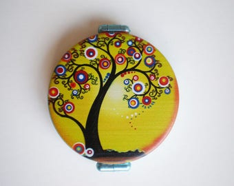 Pocket mirror, Tree of life, Pocket mirror art, Printed pocket mirror, Hand mirror