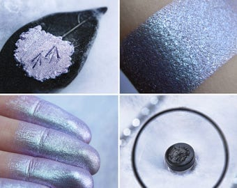 Eyeshadow: Walking on a Snowy Trail - MoonElf . Cold-white-blue prismatic eyeshadow by SIGIL inspired.