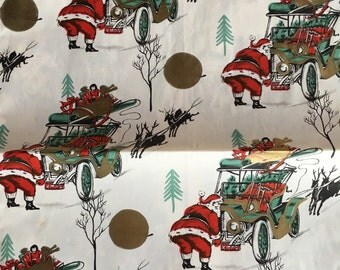 Dashing through the snow...Vintage Christmas wrap