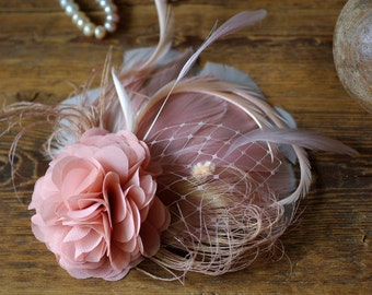 comes love fascinator headpiece bestseller available in many different colors gray pastell blush millinery hairflower vintage bridal bride
