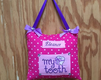 Polka Dot Tooth fairy pillow