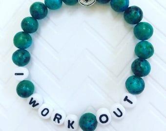I Work Out Bracelets, Work Out Bracelets, Work Out Jewelry, Personalized Bracelets, Inspirational Bracelets, Inspirational Jewelry