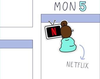 Netflix PLANNER STICKERS - 16 count sticker sheet