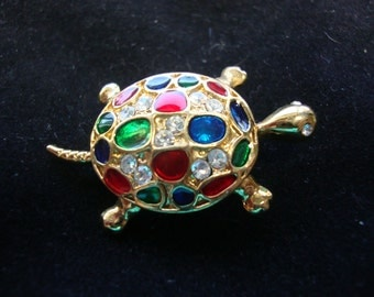 Turtle Pin Brooch