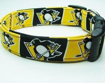 Pittsburgh Penguins Hockey Dog Collar