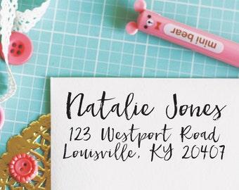 Custom Personalized Address Stamp - NATALIE Style