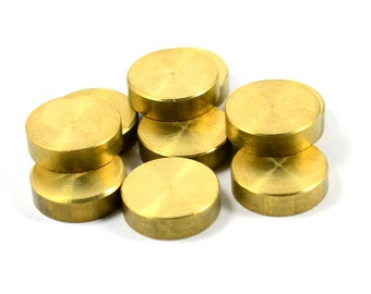 5 Pcs.  Solid Raw Brass 5x17 mm Round Circle Blanks Findings