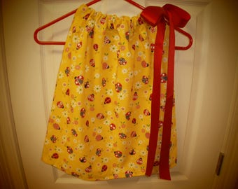 Brightly Colored Lady Bug Dress in Size 12-18 months