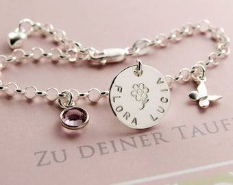 Children bracelet with engraved christening jewellery baptism bracelet