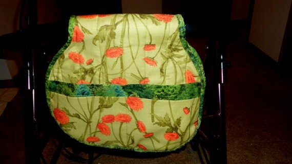 Wheelchair, Walker, Bed/Chairside Floral Saddle Bag