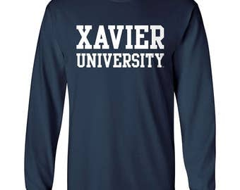 Xavier Basic Block Long Sleeve T Shirt Official collegiate tee shirt