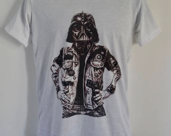 Men's Tattooed Darth Vader T-Shirt - Stormtrooper Tattoo Alternative - UK S M L