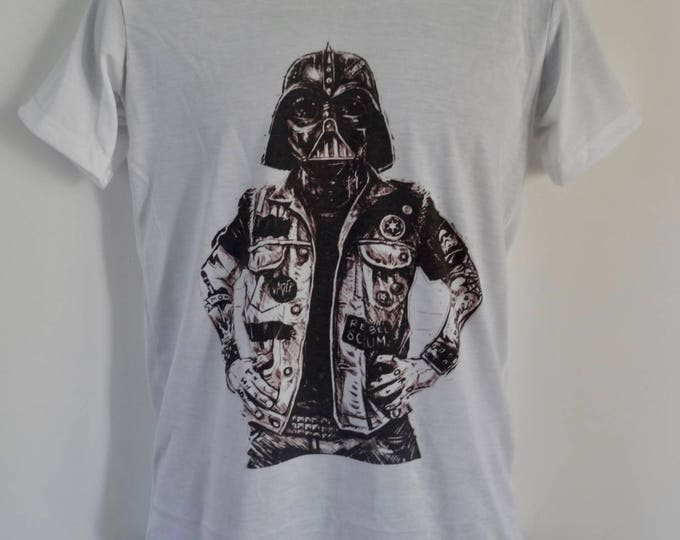 Men's Tattooed Darth Vader T-Shirt - Stormtrooper Tattoo Alternative - UK S M L